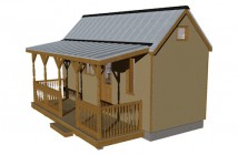 Humble Homes Humblebee Tiny House with Porch Floor Plan - 226 sq ft 2