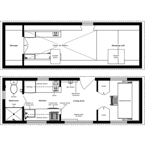 humble homes turtle house tiny house floor plans - Tiny House Floor Plans